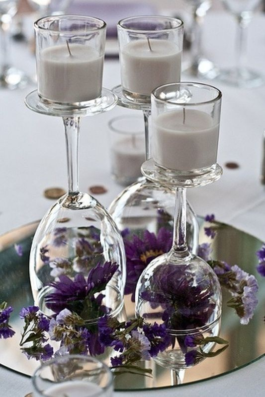 candle-wedding-centerpieces-4 11 Tips on Mixing Antique and Modern Décor Styles