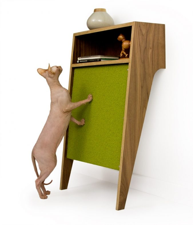 cats-scratch-table-675x787 15+ Cat Furniture Pieces for Cat Lovers in 2017