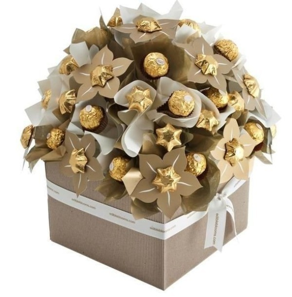chocolate-floral-bouquet-3 35 Unexpected & Creative Handmade Mother's Day Gift Ideas