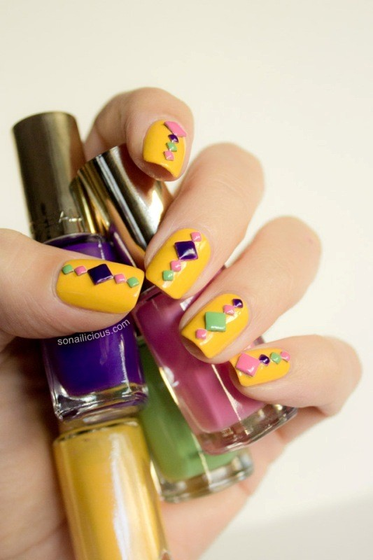 embellished-nails-1 16+ Lovely Nail Polish Trends for Spring & Summer 2018