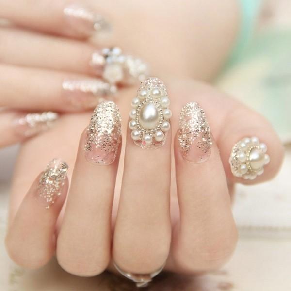 embellished-nails-10 16+ Lovely Nail Polish Trends for Spring & Summer 2018