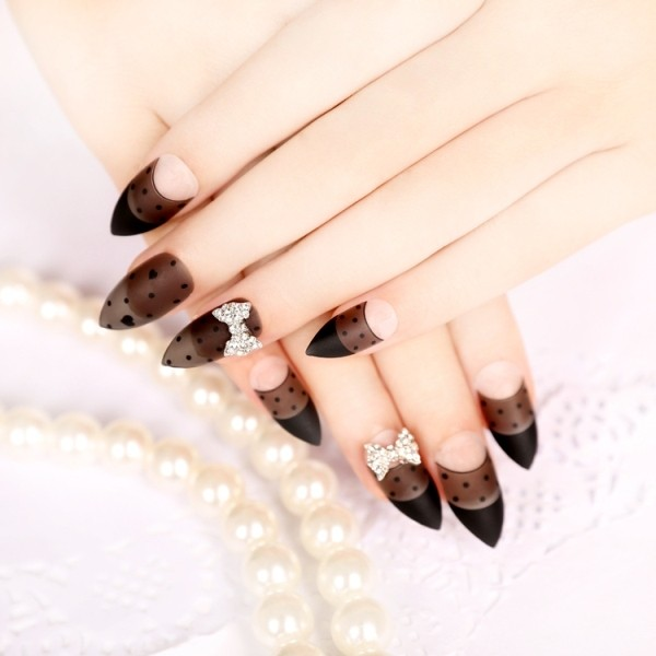 embellished-nails-11 16+ Lovely Nail Polish Trends for Spring & Summer 2018