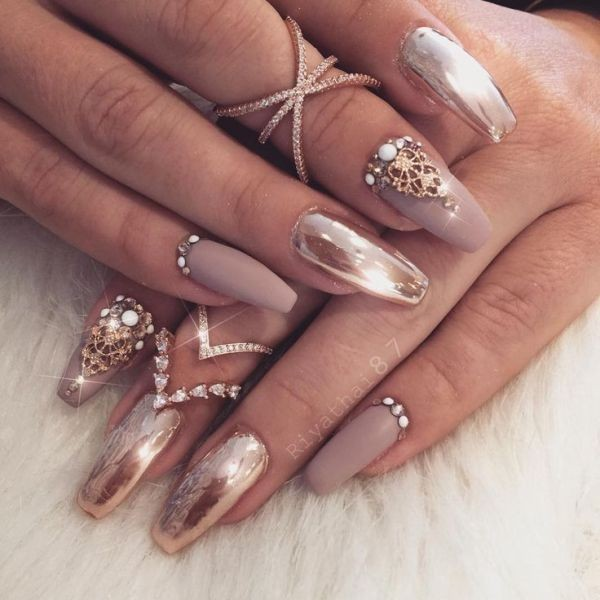 embellished-nails-12 16+ Lovely Nail Polish Trends for Spring & Summer 2018