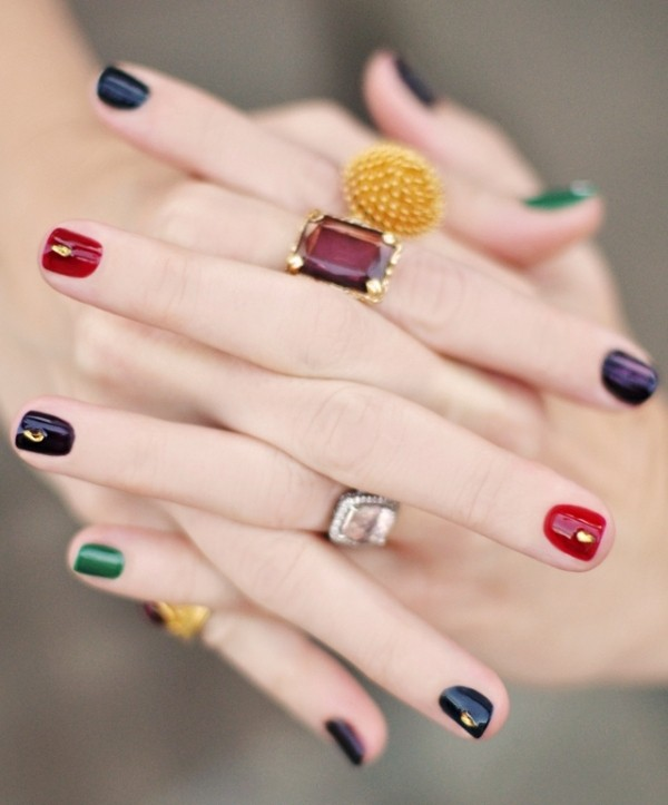 embellished-nails-3 16+ Lovely Nail Polish Trends for Spring & Summer 2018
