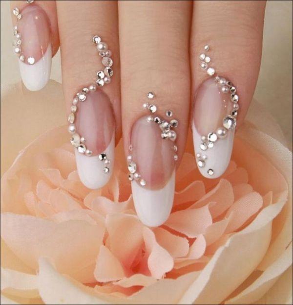 embellished-nails-5 16+ Lovely Nail Polish Trends for Spring & Summer 2018