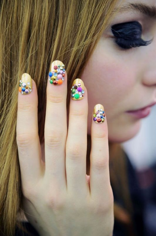 embellished-nails 16+ Lovely Nail Polish Trends for Spring & Summer 2020