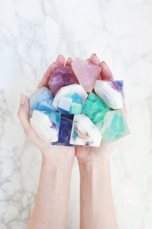 gemstone-soap 35 Unexpected & Creative Handmade Mother's Day Gift Ideas