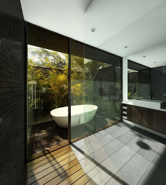 glass-bathroom-fused-with-nature-675x754 The 15 Newest Interior Design Ideas for Your Home in 2018