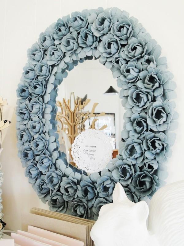 handmade-egg-carton-mirror 35 Unexpected & Creative Handmade Mother's Day Gift Ideas