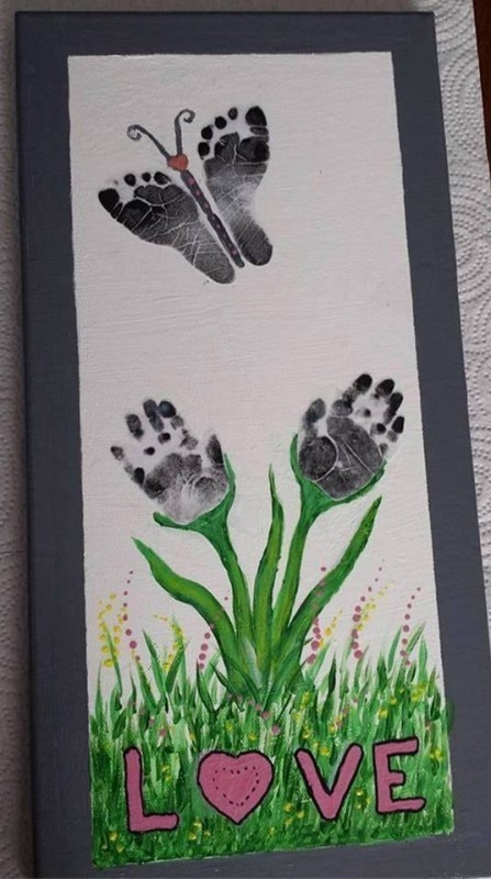 handprint-and-footprint-crafts-and-art-ideas 35 Unexpected & Creative Handmade Mother's Day Gift Ideas