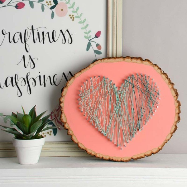 heart-string-art. 35 Unexpected & Creative Handmade Mother's Day Gift Ideas