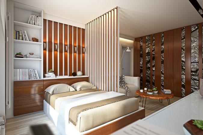 interior-design-divider-wall-675x450 15 Interior Design Tips & Ideas for Narrow Small Spaces