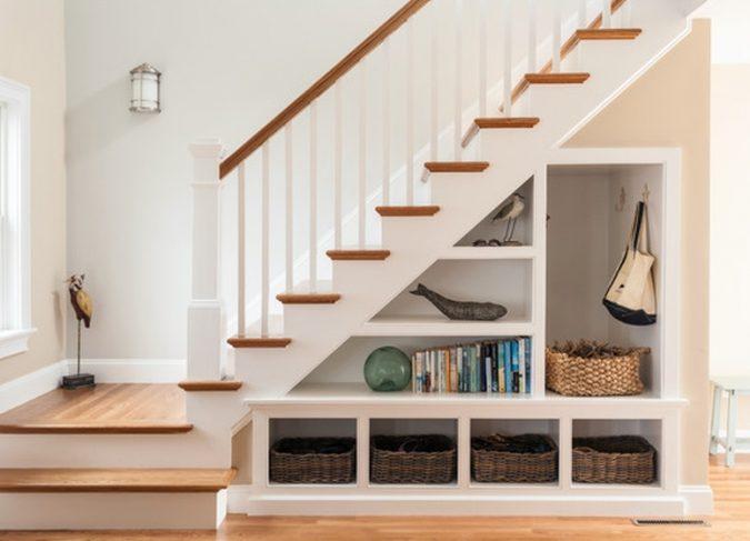 interior-design-stair-shelves-675x487 15 Interior Design Tips & Ideas for Narrow Small Spaces