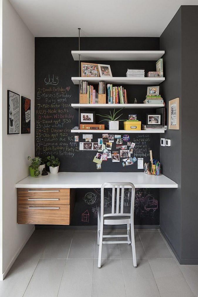 interior-design-work-nook-675x1013 15 Interior Design Tips & Ideas for Narrow Small Spaces
