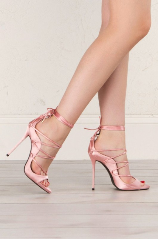 lace-up-heels-12 11+ Catchiest Spring / Summer Shoe Trends for Women 2020