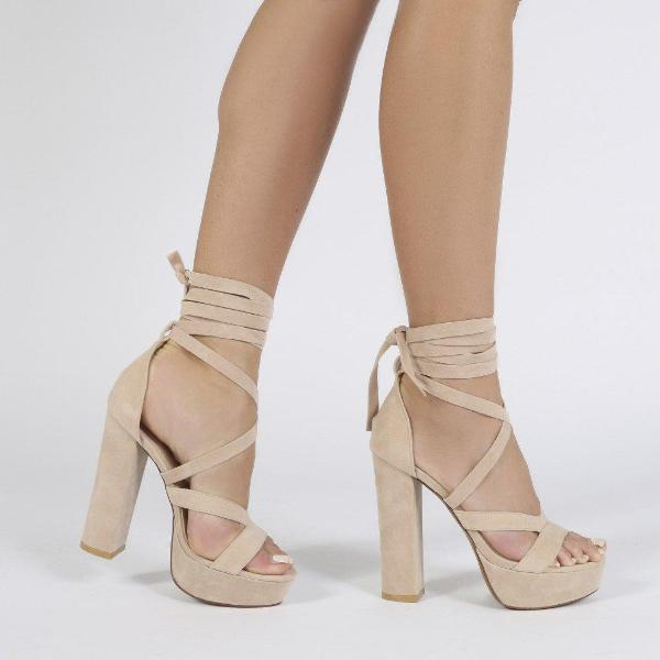 lace-up-heels-25 11+ Catchiest Spring / Summer Shoe Trends for Women 2020