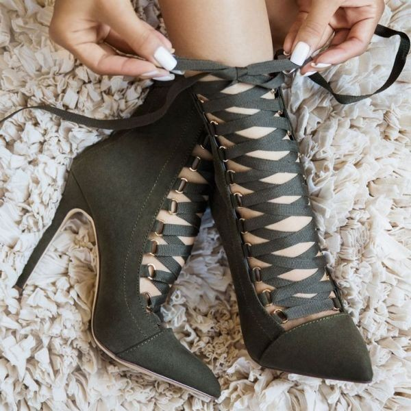 lace-up-heels-27 11+ Catchiest Spring / Summer Shoe Trends for Women 2020