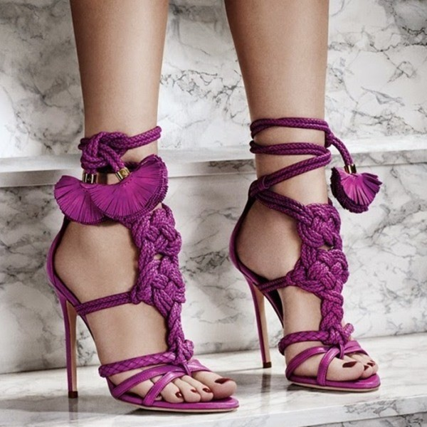 lace-up-heels-28 11+ Catchiest Spring / Summer Shoe Trends for Women 2020