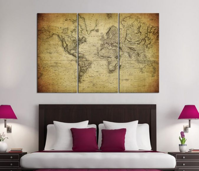 large-map-interior-design-675x582 The 15 Newest Interior Design Ideas for Your Home in 2018