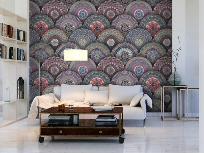 mandala-prints-wallpaper-interior-design-3-675x506 Top 5 Indian Interior Design Trends for 2020