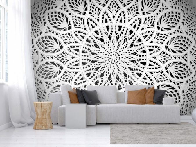 mandala-prints-wallpaper-interior-design-675x506 The 15 Newest Interior Design Ideas for Your Home in 2018