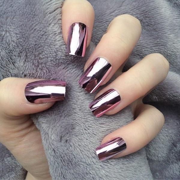 metallic-nail-art-ideas-2 16+ Lovely Nail Polish Trends for Spring & Summer 2020