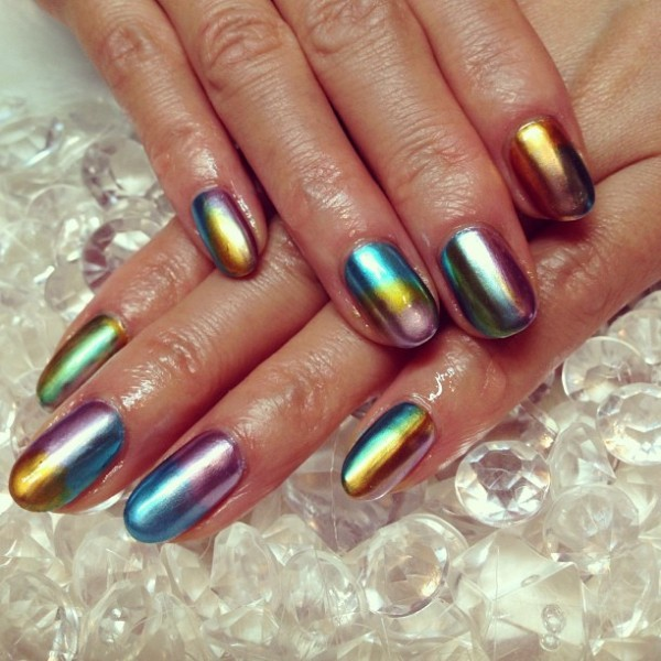 metallic-nail-art-ideas-3 16+ Lovely Nail Polish Trends for Spring & Summer 2018