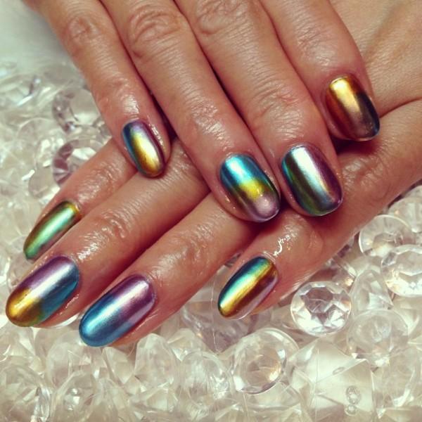 metallic-nail-art-ideas-3 16+ Lovely Nail Polish Trends for Spring & Summer 2020
