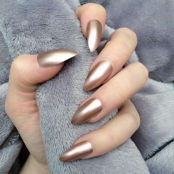 metallic-nail-art-ideas-4 16+ Lovely Nail Polish Trends for Spring & Summer 2020