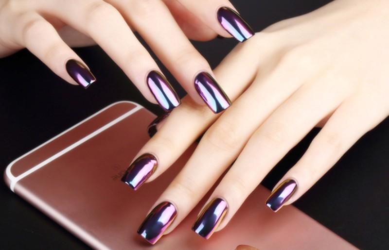 metallic-nail-art-ideas-5 16+ Lovely Nail Polish Trends for Spring & Summer 2018