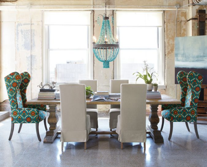 mixed-interior-design-ideas-upholstery-mixed-chairs-675x545 15+ Latest Interior Design Ideas for Your Home in 2020