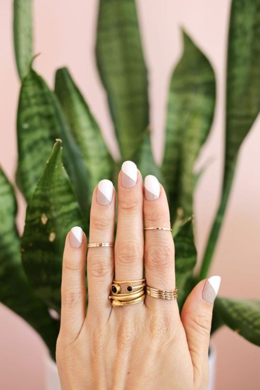 modern-French-manicure-1 16+ Lovely Nail Polish Trends for Spring & Summer 2020