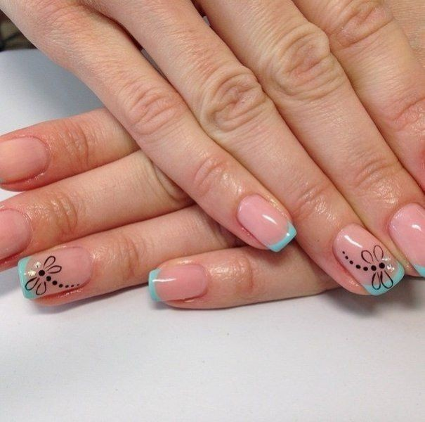 modern-French-manicure-12 16+ Lovely Nail Polish Trends for Spring & Summer 2020