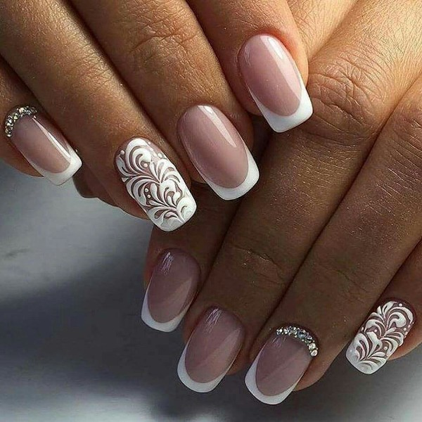 modern-French-manicure-13 16+ Lovely Nail Polish Trends for Spring & Summer 2020