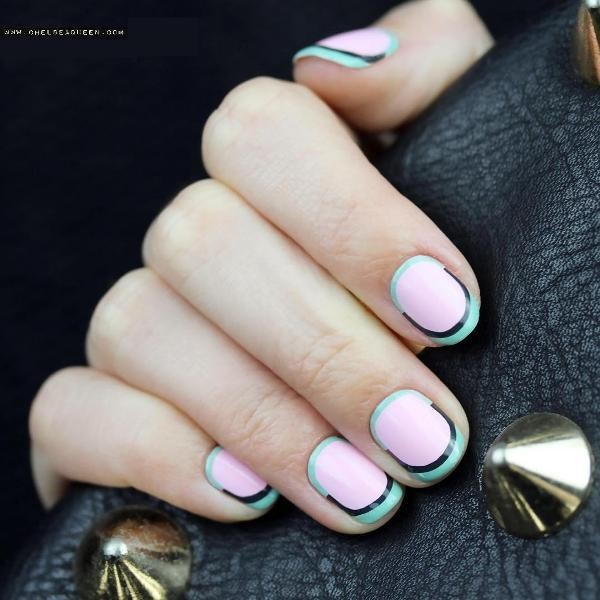 modern-French-manicure-16 16+ Lovely Nail Polish Trends for Spring & Summer 2020