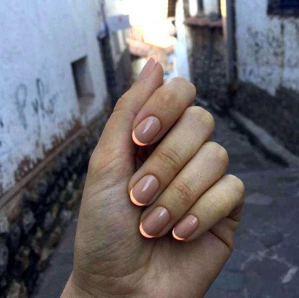 modern-French-manicure-17 16+ Lovely Nail Polish Trends for Spring & Summer 2020