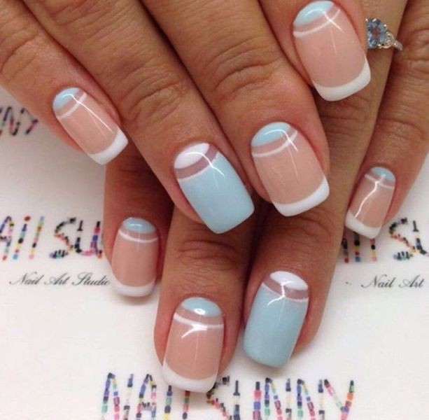 modern-French-manicure-19 16+ Lovely Nail Polish Trends for Spring & Summer 2020