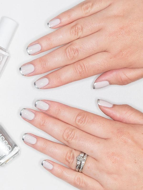 modern-French-manicure-6 16+ Lovely Nail Polish Trends for Spring & Summer 2020