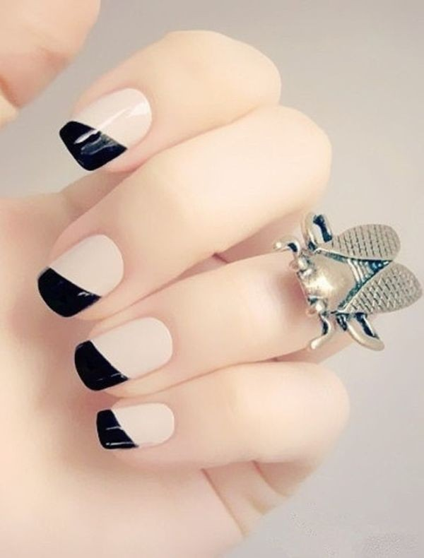 modern-French-manicure-9 16+ Lovely Nail Polish Trends for Spring & Summer 2020