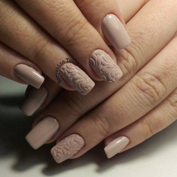 nude-nails-19 16+ Lovely Nail Polish Trends for Spring & Summer 2020