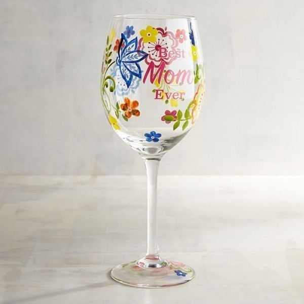 personalized-wineglass 35 Unexpected & Creative Handmade Mother's Day Gift Ideas