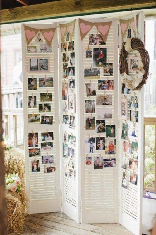 photo-display-wedding-decor-ideas-5 88+ Unique Ideas for Decorating Your Outdoor Wedding
