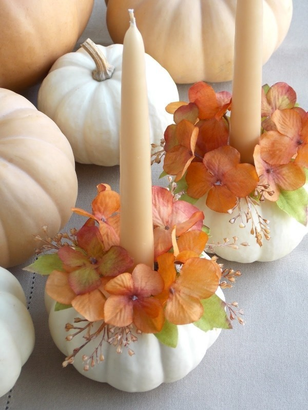 pumpkin-wedding-centerpieces-8 11 Tips on Mixing Antique and Modern Décor Styles