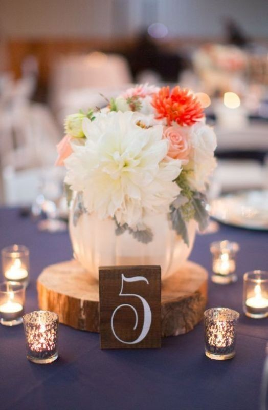 pumpkin-wedding-centerpieces 11 Tips on Mixing Antique and Modern Décor Styles