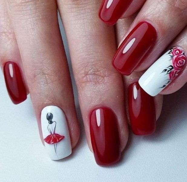 red-nails-1 16+ Lovely Nail Polish Trends for Spring & Summer 2018