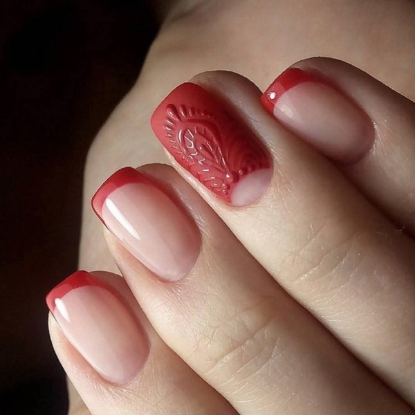 red-nails-4 16+ Lovely Nail Polish Trends for Spring & Summer 2020