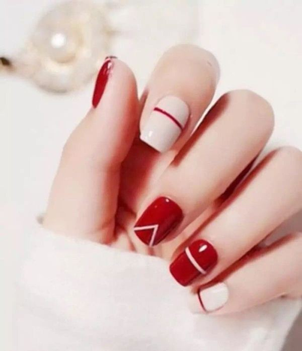 red-nails 16+ Lovely Nail Polish Trends for Spring & Summer 2018
