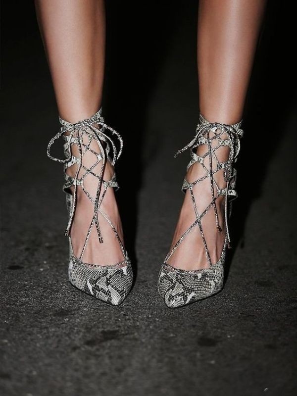 snakeskin-shoes-11 11+ Catchiest Spring / Summer Shoe Trends for Women 2020