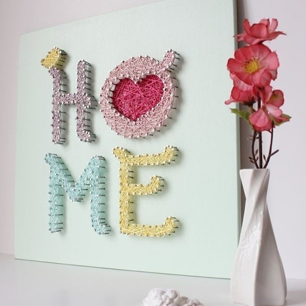string-art 35 Unexpected & Creative Handmade Mother's Day Gift Ideas