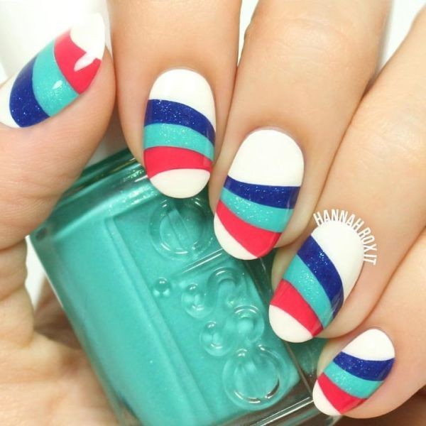 striped-nails-12 16+ Lovely Nail Polish Trends for Spring & Summer 2018